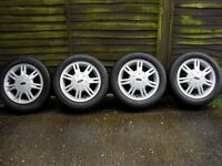 Refurbished Ford Fiesta Alloy Wheels And Tyres.