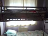 Metal 2ft6 shorty bunk beds with mattresses