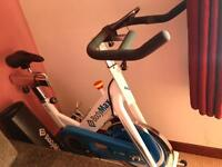 Exercise bike. BODYMAX B15 WHITE INDOOR CYCLE EXERCISE BIKE WITH FREE LCD MONITOR