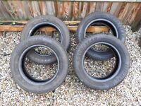 4x Tyres 185/60r14 82H part worn tyres (2 very good, 2 ok) - see photos