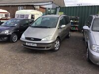 2003 DIESEL ford Galaxy 7 seater in vgcondition mot April 2017 tow bar all the extras family car