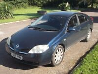 2005 NISSAN PRIMERA 2.0 AUTO, MOT OCTOBER 2018, ONLY 78,000 MILES, ONLY £695