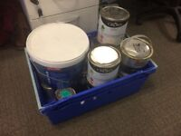 A selection of paints