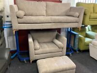 NEW - EX DISPLAY John Lewis BOLD ICON IDOL 4 SEATER + LOVE SEAT SOFA + FOOTSTOOL SOFAS, 70% Off RRPP