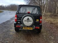 SUZUKI JIMNY VVTS CONVERTIBLE 2005 BLACK MOT LOW MILES MANUAL PETROL 4X4