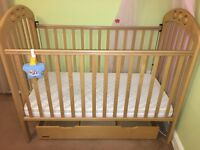 Mamas and Papas cot bed with storage