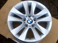 "17"" GENUINE BMW 3 SERIES (2012) ALLOY WHEEL STYLE 338 8J 5x120 FULL SIZE SPARE"