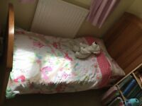 Mothercare Pine Cotbed / Cot suitable for Baby turns into toddler bed up to 5 yrs / + fitted sheets