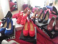 High heel shoes, sandals, wedges, size 7.5-8. New and nearly new. £12 each