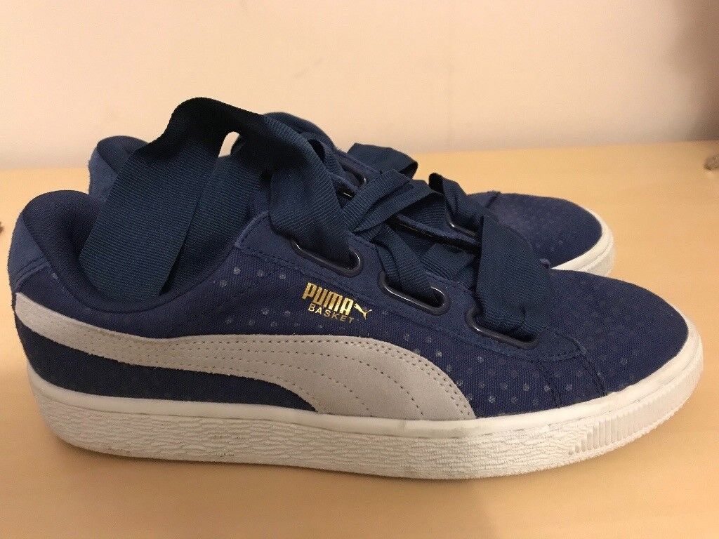 new arrival 3ab74 6e3d8 Ladies Puma basket heart trainers size 6.5 | in Plymouth ...