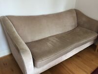John Lewis Lucca grand sofa and love chair and oak coffee table with shelf.