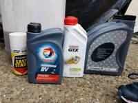 Engine and gear box oil