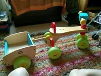 Wooden elc trike with trailer