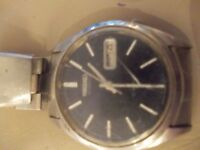 Seiko blue face automatic with day/ date window