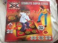 FREE DELIVERY X FACTOR XFACTOR STARTLITE SUPERSTAGE SING DANCE MAT INTERACTIVE LIGHTS MICROPHONE