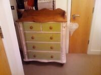 Gorgeous shabby chic chest of drawers 😂
