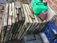 "Paving slabs 2'widex 2.5'longx 2""thick"
