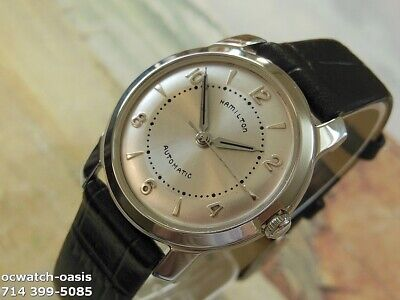 1960's Vintage HAMILTON  AUTOMATIC, Stunning 2 Tone Silver Dial, Serviced