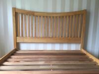 Wooden double bed frame