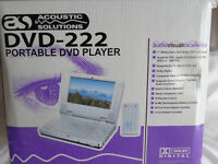 Accoustic solutions portable DVD player - 222 - Still in box, used only once - £30 ONO