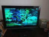 Television - Sharp Aquos, 32inch flatscreen with remote