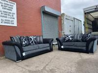 SOLD! Absolutely Gorgeous Harvey's grey & black sofas 3&2 delivery 🚚 sofa suite couch furniture