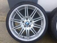 GENUINE BMW 19 INCH MV4 ALLOY WHEELS -