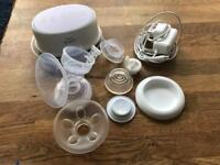 Phillips Avent breast pump, steriliser & bottles for sale