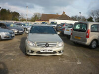 MERCEDES-BENZ C CLASS 2.1 C220 CDI BlueEFFICIENCY Sport 4dr Auto (beige) 2010
