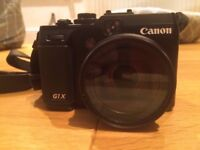 Canon PowerShot G1 X + 64GB card + bag + extra battery