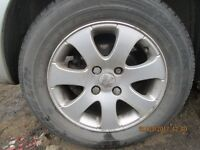Peugeot 307 Set of 4 Alloy Wheels and Tyres.