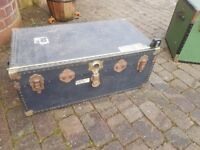 Travel Trunk - Robust Vintage Travel Trunk -Ideal for Air/Sea Freight of Personal Effects