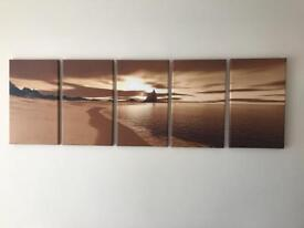5-piece canvas art