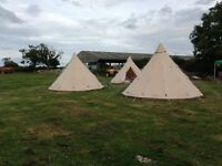 Luxury glamping tipi and complete package for sale