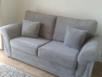 STUNNING 2 SEATER TAUPE SOFA/SOFA BED WITH CUSHIONS EXCELLENT CONDITION WAS IN GUEST ROOM COST £599