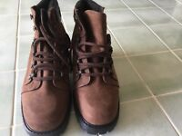 Canadian made brown suede and leather walking boots
