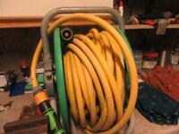 garden hose on real with sprayer over 30feet long