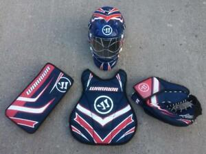 Warrior Street Hockey Goalie Kit- Mask, Chest Protector and Catcher/Blocker