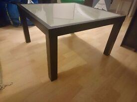 Ikea coffee table metal and glass
