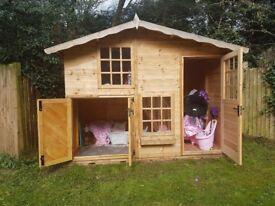 Wooden garden playhouse 2 stories, wendyhouse, immaculate