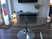 Dwell smoked glass dining table