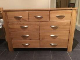 Galway sideboard chest of 9 drawers oak furniture land