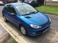Peugeot 206 1360cc special edition zest 3 2005 facelift 3 door hatch new mot one owner