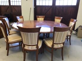 Beautiful Cherry Dining Table and 8 Chairs