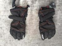 Children's ski gloves - black