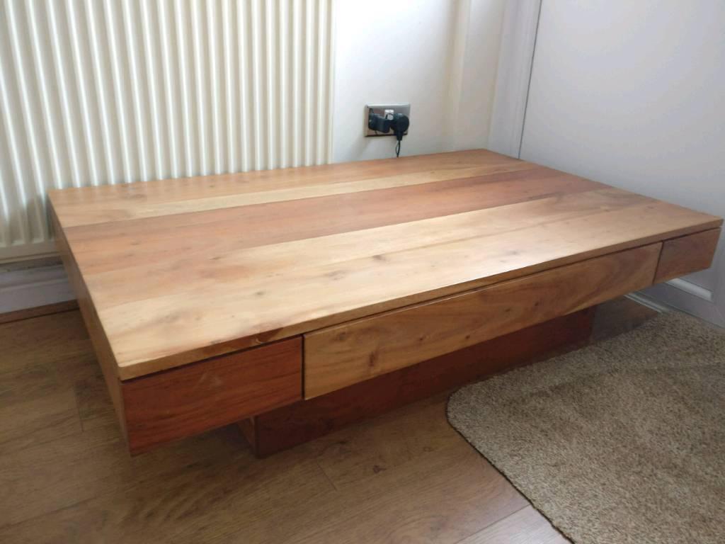 Solid Acacia Wood Coffee Table