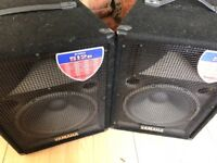 Yamaha s12e pro speakers 250w ideal for DJ band or PA