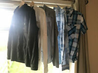 JOB LOT OF GENUINE G-STAR GSTAR SHIRTS AND ONE JACKET ALL SIZE LARGE ALL HAVE YEARS LEFT IN THEM