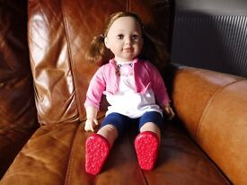 Lifesize toddler doll (Chad Valley - Molly & Friends) - pink top