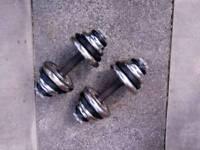 Dumbbells metal 2 x 15kg